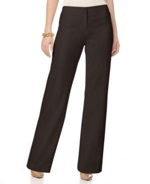 Ellen Tracy Pants, Straight Leg Trousers
