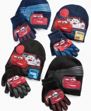 ABG Accessories Kids Set, Little Boys Cars Hat and Gloves Set