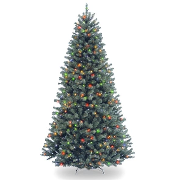 National Tree Company National Tree 7 .5' North Valley Spruce Blue Hinged Tree with 700 Multi Lights