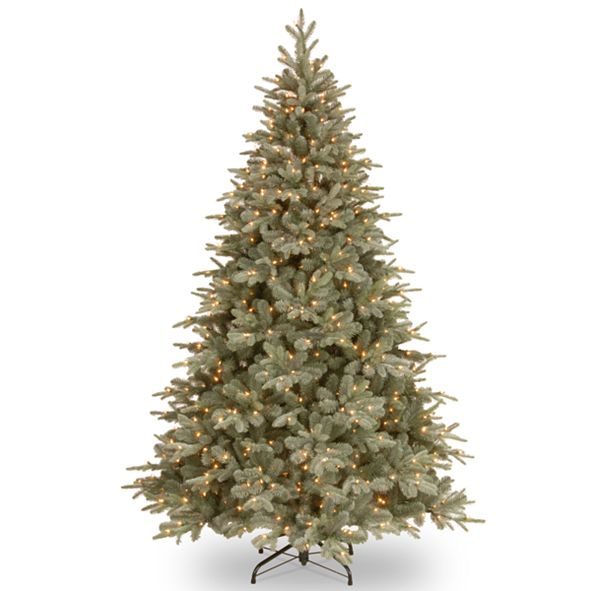 National Tree Company National Tree 7 .5'Feel RealRFrost Arctic Spruce Hinged Tree with 750 Clear Lights