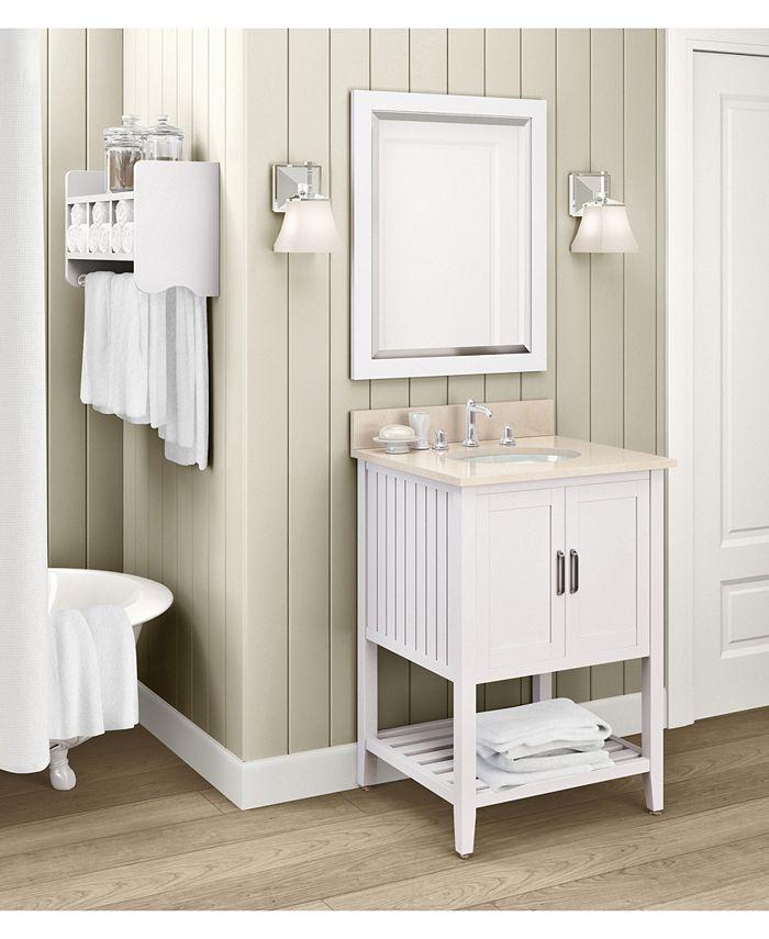 Alaterre Furniture 24 Beveled Bath Vanity Mirror White Reviews Furniture Macy S