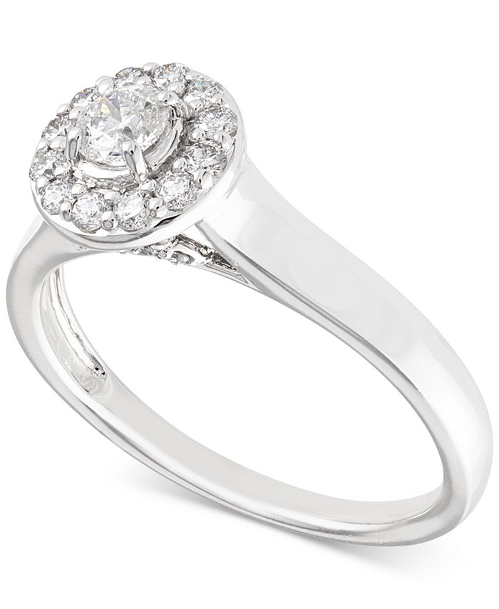X3 - Certified Diamond Engagement Ring (1/2 ct. t.w.) in 14k White Gold