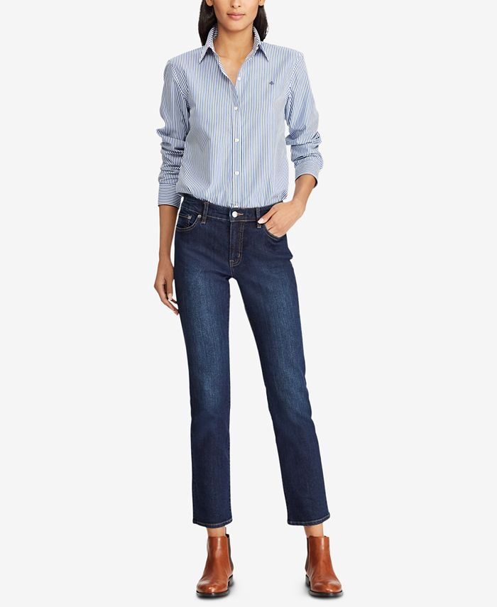 Lauren Ralph Lauren - Super-Stretch Straight-Leg Jeans