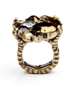 RACHEL Rachel Roy Ring, Gold Tone Glass Cluster Cocktail Ring