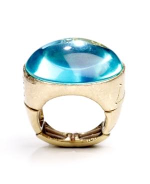 RACHEL Rachel Roy Ring, Gold Tone Blue Epoxy Ring