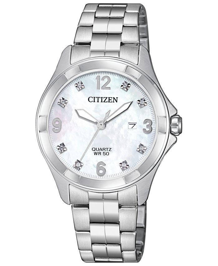 Citizen - Women's Quartz Stainless Steel Bracelet Watch 32mm