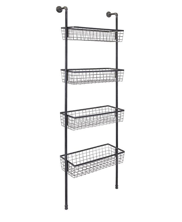 IMAX Truman 4-Basket Wall Shelf