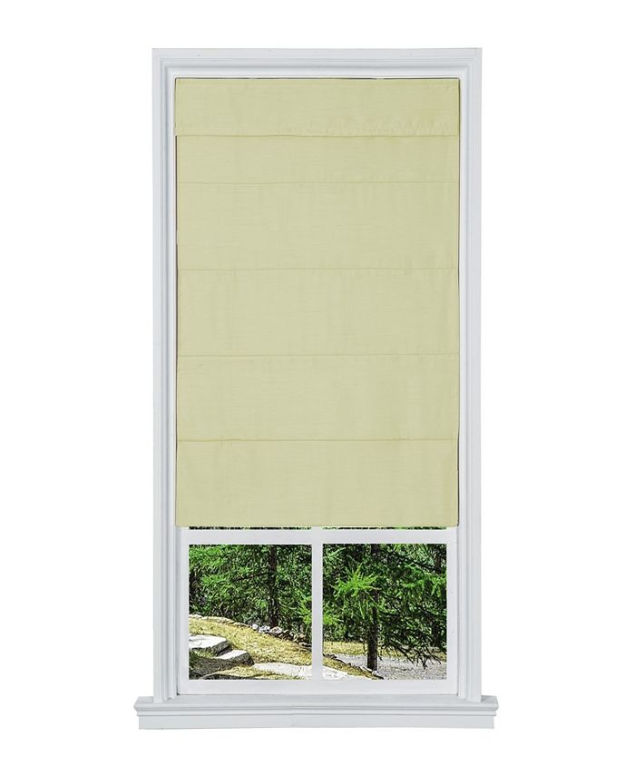 "US Shade & Shutter - Cordless Faux Silk Fabric Roller Shade, 35""x 64"""