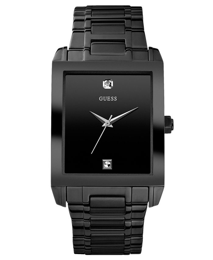GUESS - Watch, Men's Diamond Accent Black Ion Plated Stainless Steel Bracelet 41x37mm U12557G1