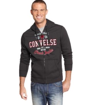 Converse Hoodie, Jayce Graphic Fleece Full Zip Hoodie