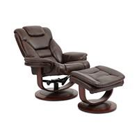Deals on Faringdon Leather Euro Chair & Ottoman