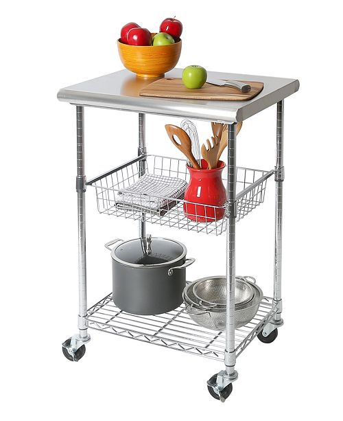 Seville Classics Nsf Stainless Steel Kitchen Work Table Cart Reviews Cleaning Organization Home Macy S