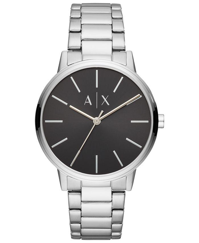 A|X Armani Exchange - Men's Cayde Stainless Steel Bracelet Watch 42mm