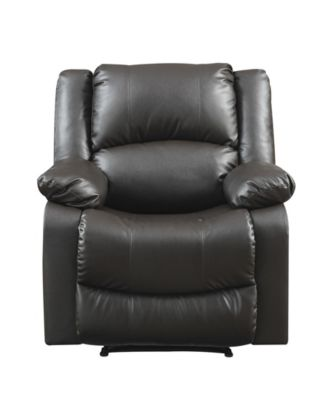 Preston Recliner With Microfiber Upholstery and Wood Frame