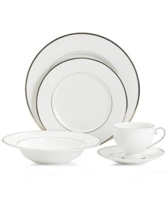 Mikasa Dinnerware, Cameo Platinum 5 Piece Place Setting
