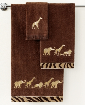 "avanti bath towels, animal parade 25"" x 50"" bath towel"