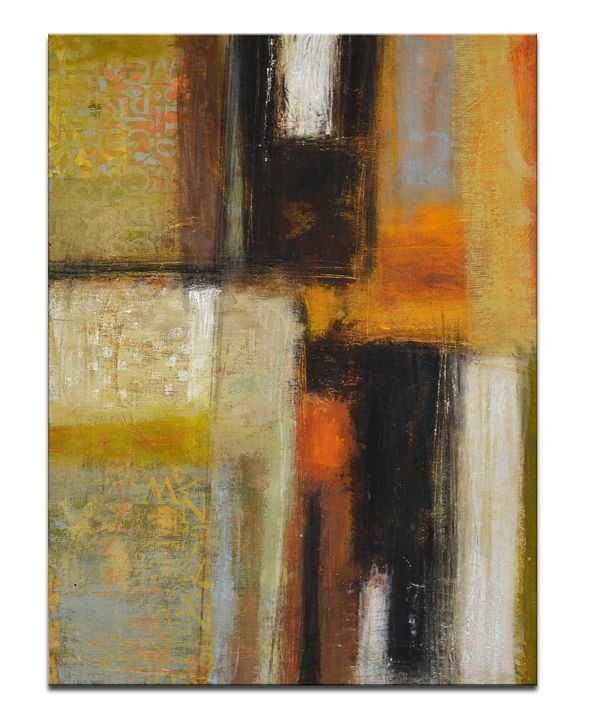 """Ready2HangArt 'Down to Earth I' Abstract Canvas Wall Art, 30x20"""""""