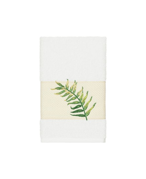 Linum Home Zoe Embroidered Turkish Cotton Hand Towel