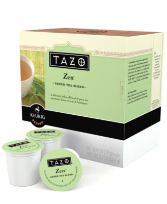 Keurig 10519 K-Cup Portion Packs, 16 Count Starbucks Tazo Zen Green Tea