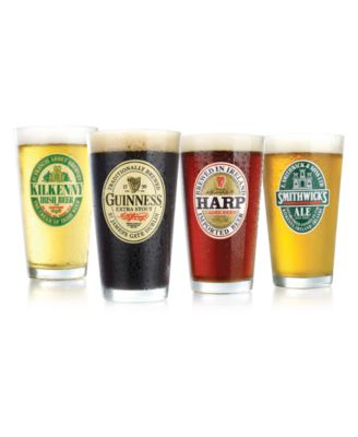 Luminarc Glassware, Set of 4 Assorted Beer Glasses