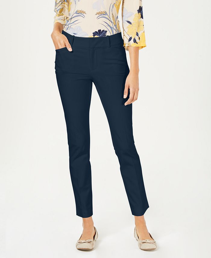 Charter Club - Newport Tummy-Control Slim-Fit Pants