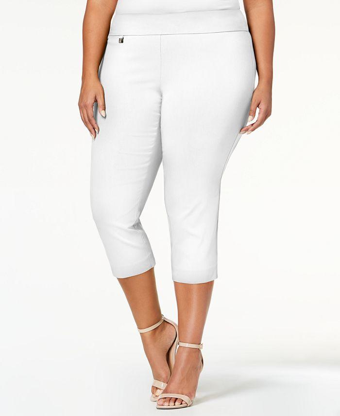 Alfani - Plus Size Pull-On Capri Pants