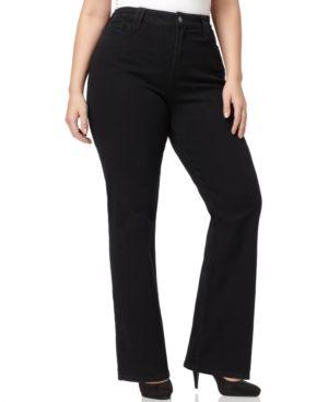 Nydj Plus Size Hayden Bootcut Jeans, Black Wash