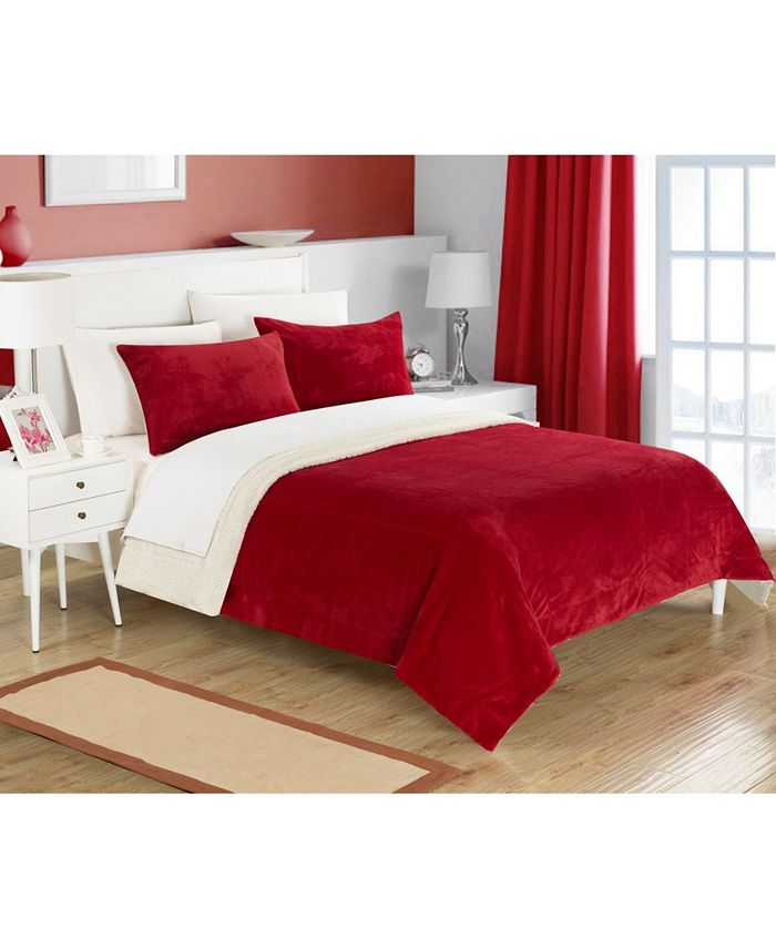 Chic Home - EVIE   2PC SHERPA BLANKET