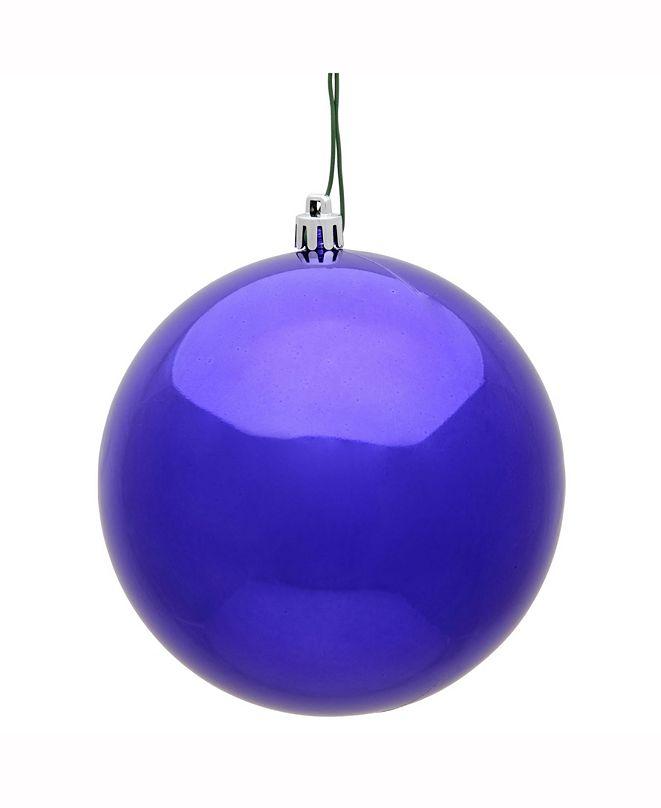 "Vickerman 15.75"" Purple Shiny Uv Treated Ball Christmas Ornament"