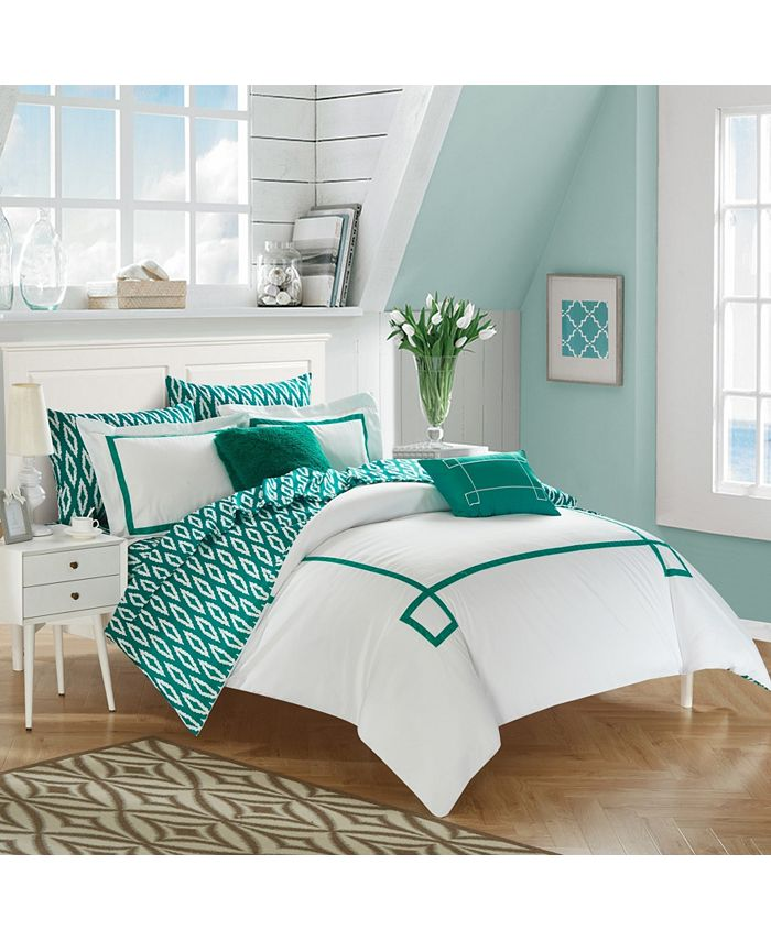 Chic Home - Trace 9-Pc. Bed In a Bag Comforter Sets
