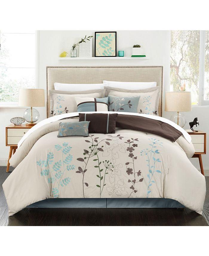 Chic Home - Bliss Garden 12-Pc. Queen Comforter Set