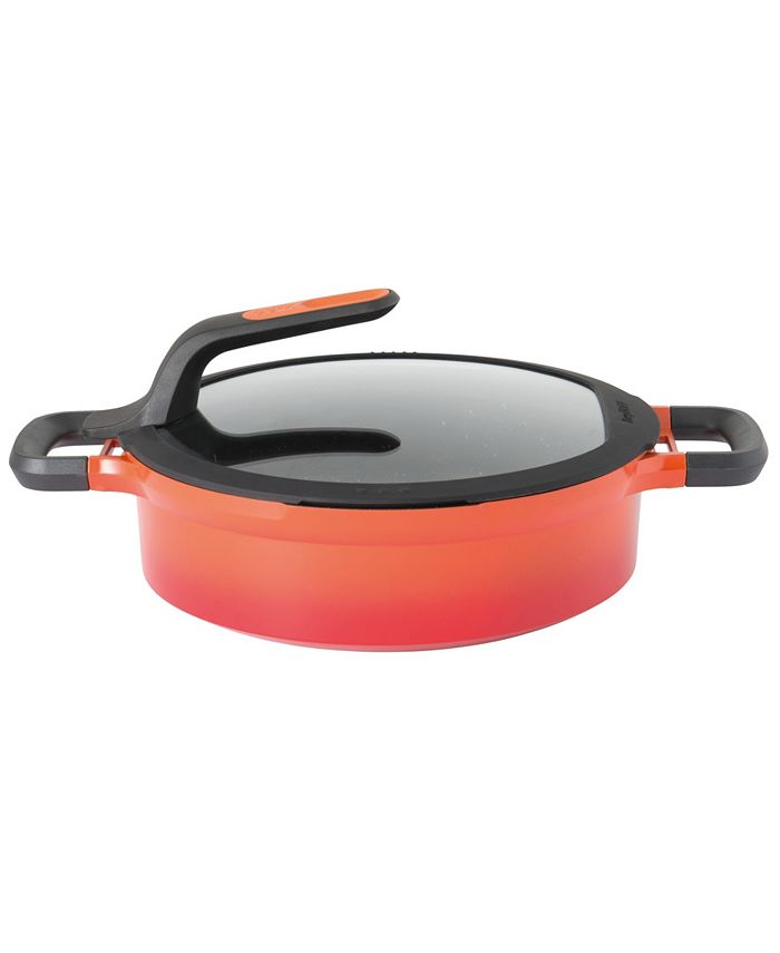 BergHOFF - Gem Collection Cast Aluminum 4.1-Qt. Nonstick Covered Two-Handled Saute Pan