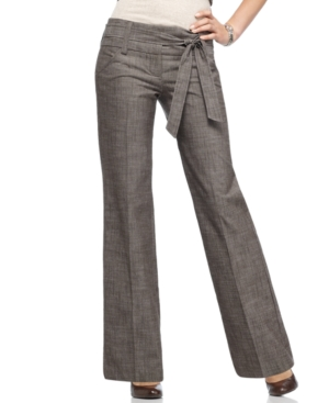 BCX Pants, Wide Leg Belted Trousers