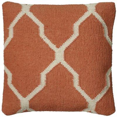 "18"" x 18"" Moroccan Tile Motif Poly Filled Pillow"