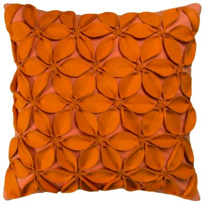 "18"" x 18"" Botanical Petals Poly Filled Pillow"