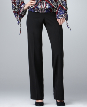 Style&co. Pants, Curvy Fit Bootcut Tab Front