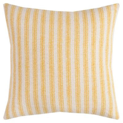 "20"" x 20"" Ticking Stripe Poly Filled Pillow"