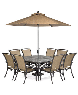 paradise outdoor 9 set 64 quot square dining table and