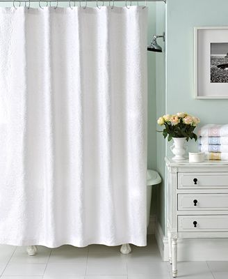 Martha stewart collection trousseau matelasse shower curtain bathroom accessories bed bath Martha stewart bathroom collection