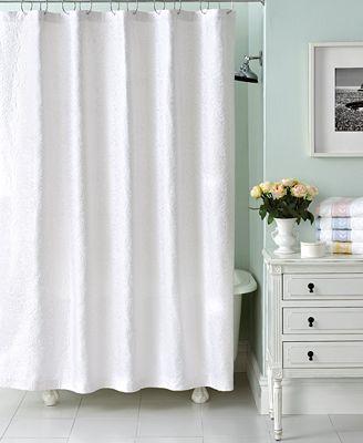 Martha stewart collection trousseau matelasse shower curtain bathroom accessories bed bath Martha stewart bathroom collection