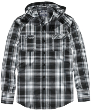 American Rag Shirt, Hooded Fashion Plaid
