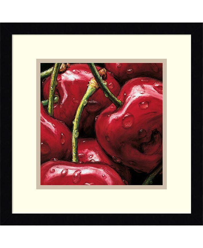 Amanti Art - Cherries 15x15 Framed Art Print