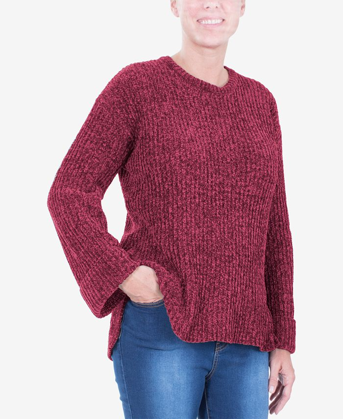 NY Collection - Ribbed Cuffed Sweater