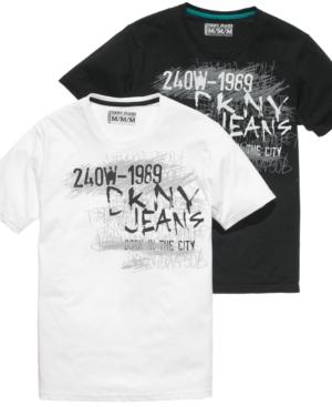 DKNY Jeans Shirt, Short Sleeve Chalkboard Logo T Shirt