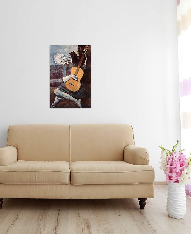 """iCanvas """"The Old Guitarist"""" by Pablo Picasso Gallery-Wrapped Canvas Print"""
