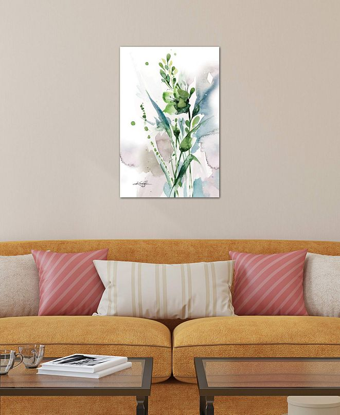 """iCanvas """"Green Bliss I"""" by Kathy Morton Stanion Gallery-Wrapped Canvas Print"""