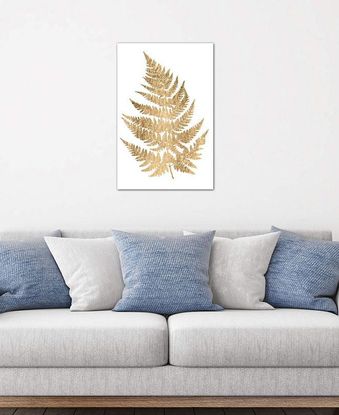 "iCanvas ""Graphic Gold Fern IV"" by Studio W Gallery-Wrapped Canvas Print (40 x 26 x 0.75)"