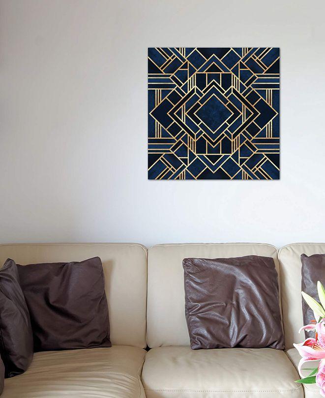 "iCanvas ""Art Deco III"" by Elisabeth Fredriksson Gallery-Wrapped Canvas Print (26 x 26 x 0.75)"