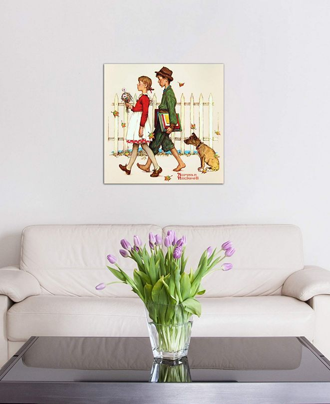 "iCanvas ""Young Love: Walking to School"" by Norman Rockwell Gallery-Wrapped Canvas Print (18 x 18 x 0.75)"