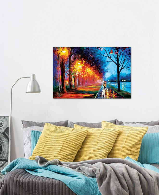 """iCanvas """"Alley By The Lake II"""" by Leonid Afremov Gallery-Wrapped Canvas Print (18 x 26 x 0.75)"""